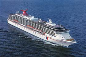 An aerial view of Carnival Pride.
