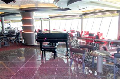 A piano to delight the guests on-board Azura.