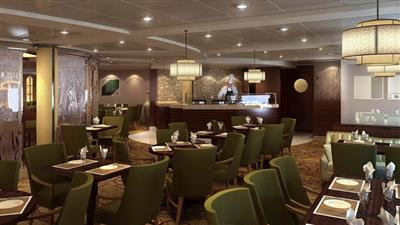 Bistro on Five, a popular creperie on  Celebrity Constellation