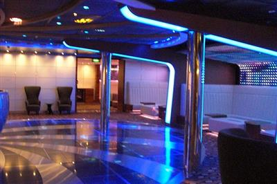 A detail of the night club on Celebrity Eclipse.