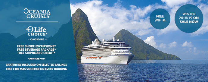 Oceania Cruises Winter NOW ON SALE IgluCruise - Cruise ships with wifi