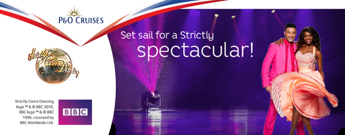 P and O Cruises Strictly Come Dancing