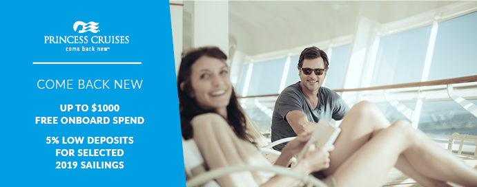 Princess Cruises Come Back New Up To 1 000 Free